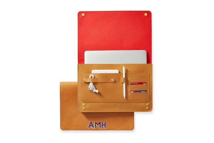 Mark & Graham Essential Leather Laptop Envelope