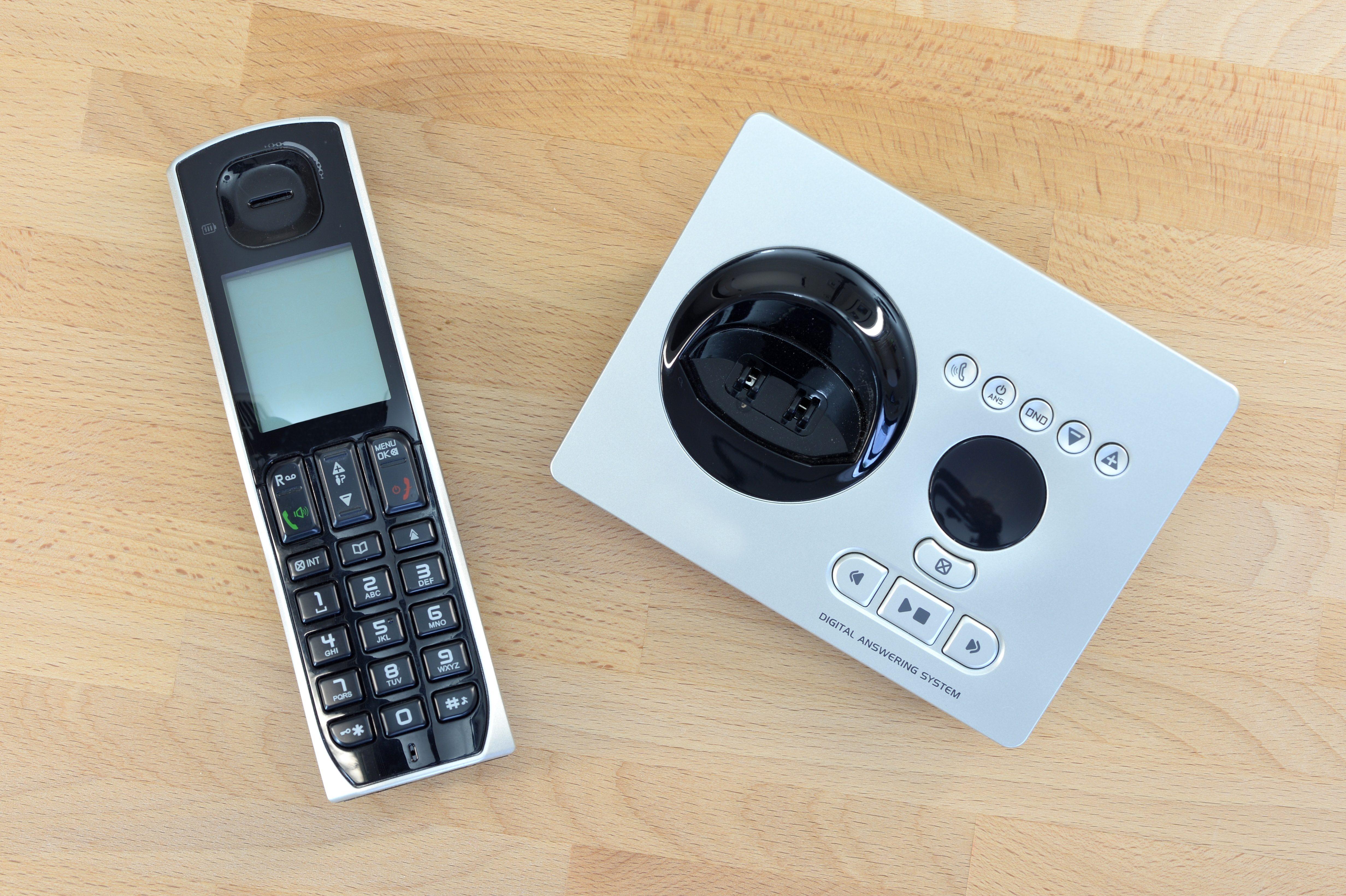 A close up shot of a digital telephone
