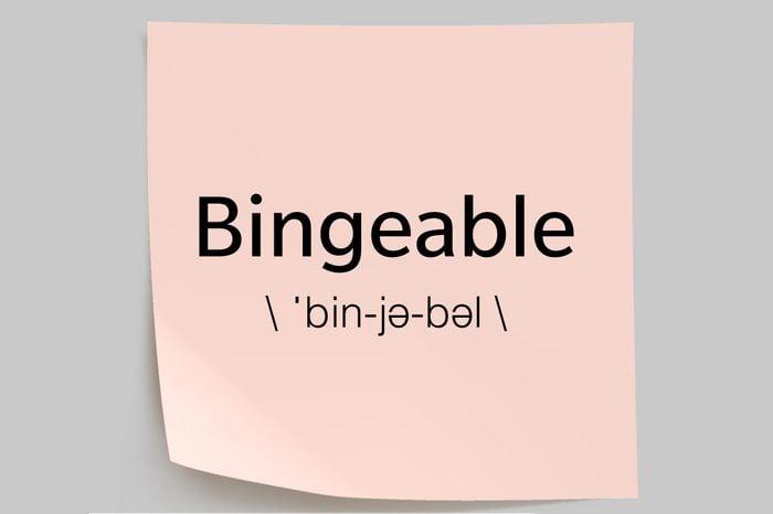 bingeable sticky note