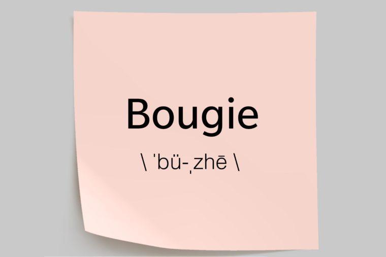 bougie sticky note