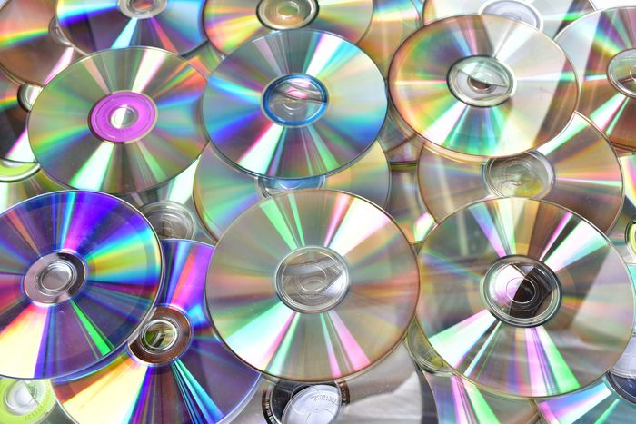 Close up of stack of compact disc