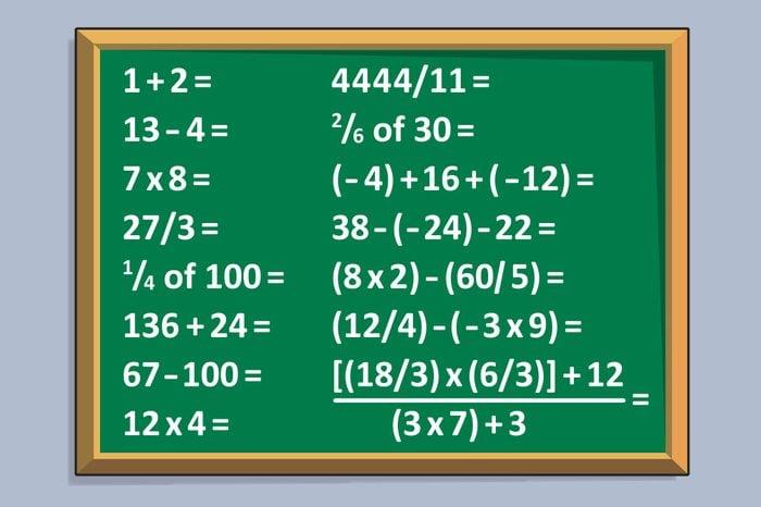 number music problem illustration