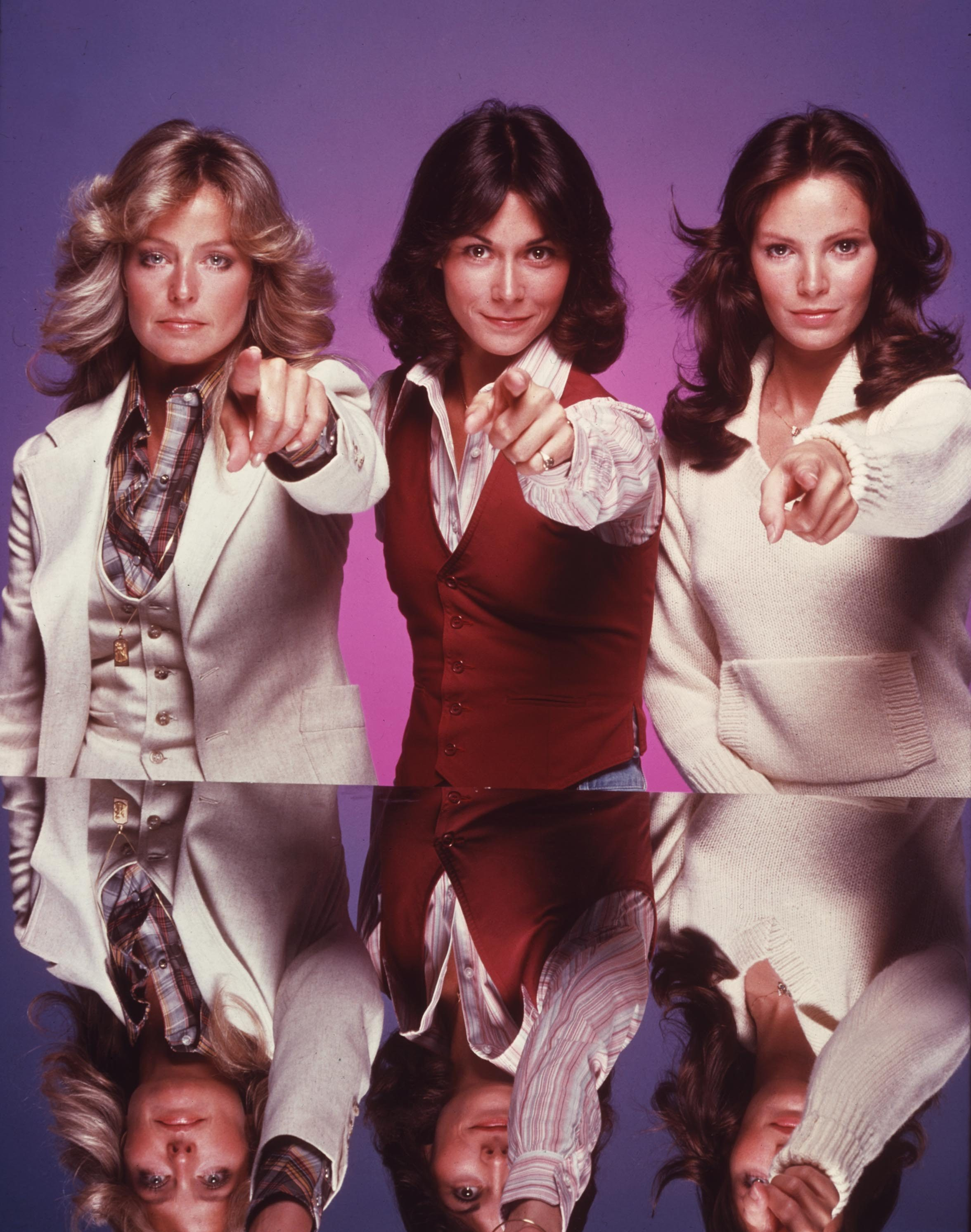Editorial use only. No book cover usage. Mandatory Credit: Photo by Spelling-Goldberg/Kobal/Shutterstock (5885677p) Farrah Fawcett, Kate Jackson, Jaclyn Smith Charlie's Angels - 1976-1981 Spelling-Goldberg USA Television