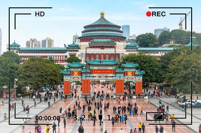 Chongqing, China - March 12, 2019: the Great Hall of Chongqing people's Square is one of the famous landmarks in Chongqing, China (Transtation: Chongqing People's Auditorium)
