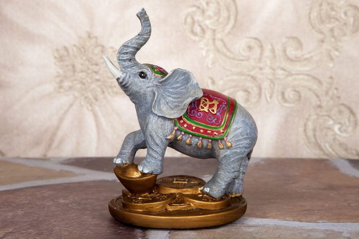 An asian good luck elephant to bring wealth and prosperity