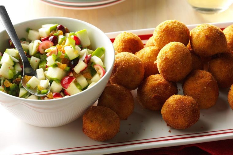 Alaska: Turkey Croquettes with Cranberry Salsa