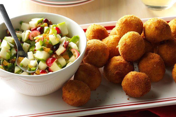 Alaska: Turkey Croquettes with Cranberry Salsa
