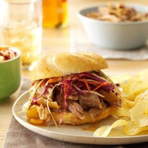 Illinois: Sweet & Spicy Pulled Pork Sandwiches