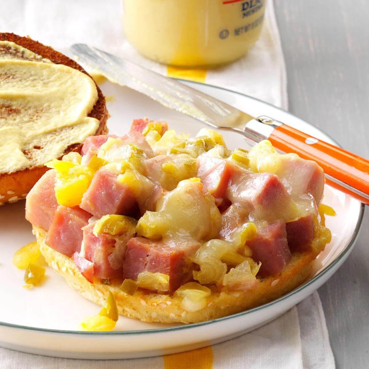 Pineapple-Dijon Ham Sandwiches
