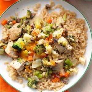 Kansas: Broccoli-Cauliflower Chicken Casserole