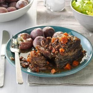 Connecticut: Slow-Cooked Short Ribs with Salt-Skin Potatoes