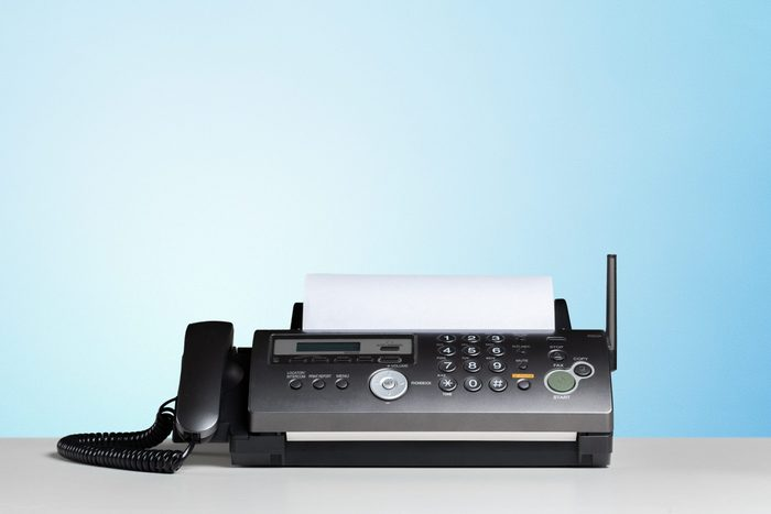Fax machine, communication