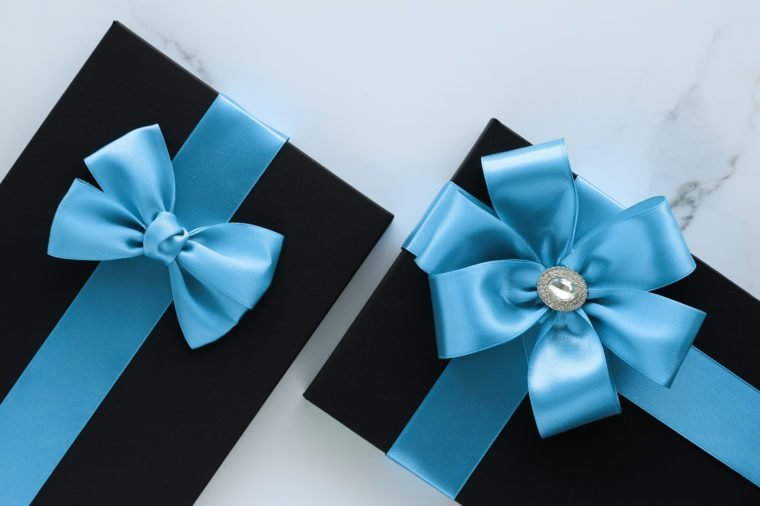 Romantic celebration, lifestyle and birthday present concept - Luxury holiday gifts on marble