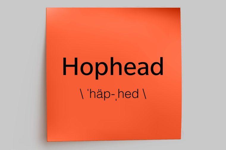 hophead sticky note