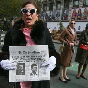 'Killing Kennedy' TV show promotion in Herald Square, New York, America - 06 Nov 2013
