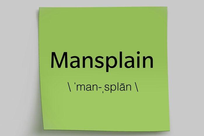 mansplain sticky note