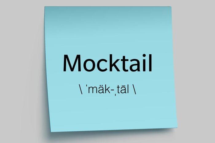 mocktail sticky note