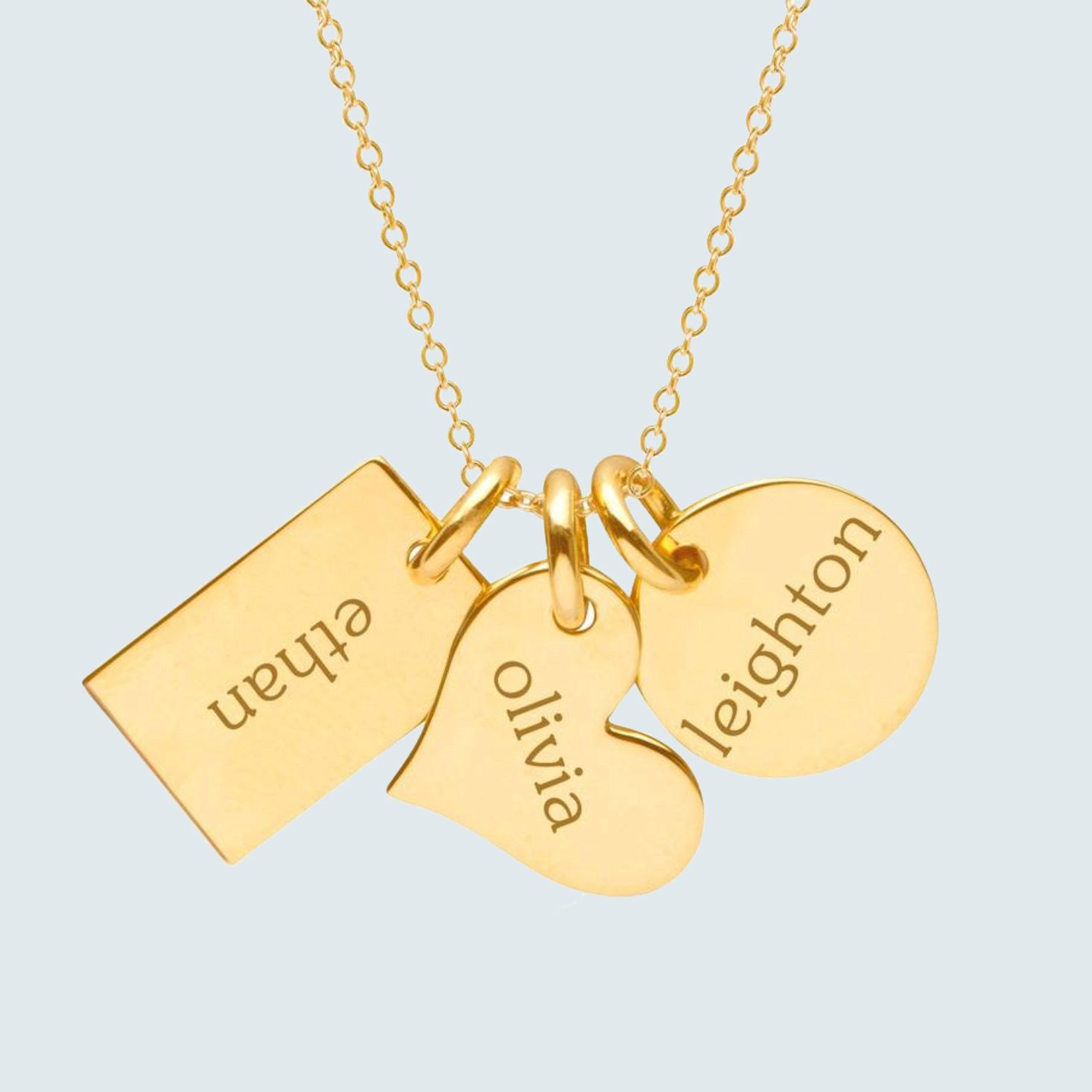 Tiny Tags Gold Family Necklace