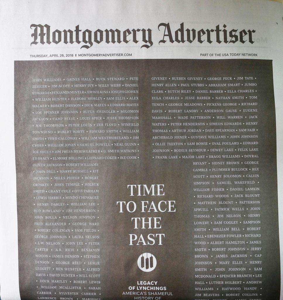 Newspaper Lynching Apology, Montgomery, USA - 26 Apr 2018