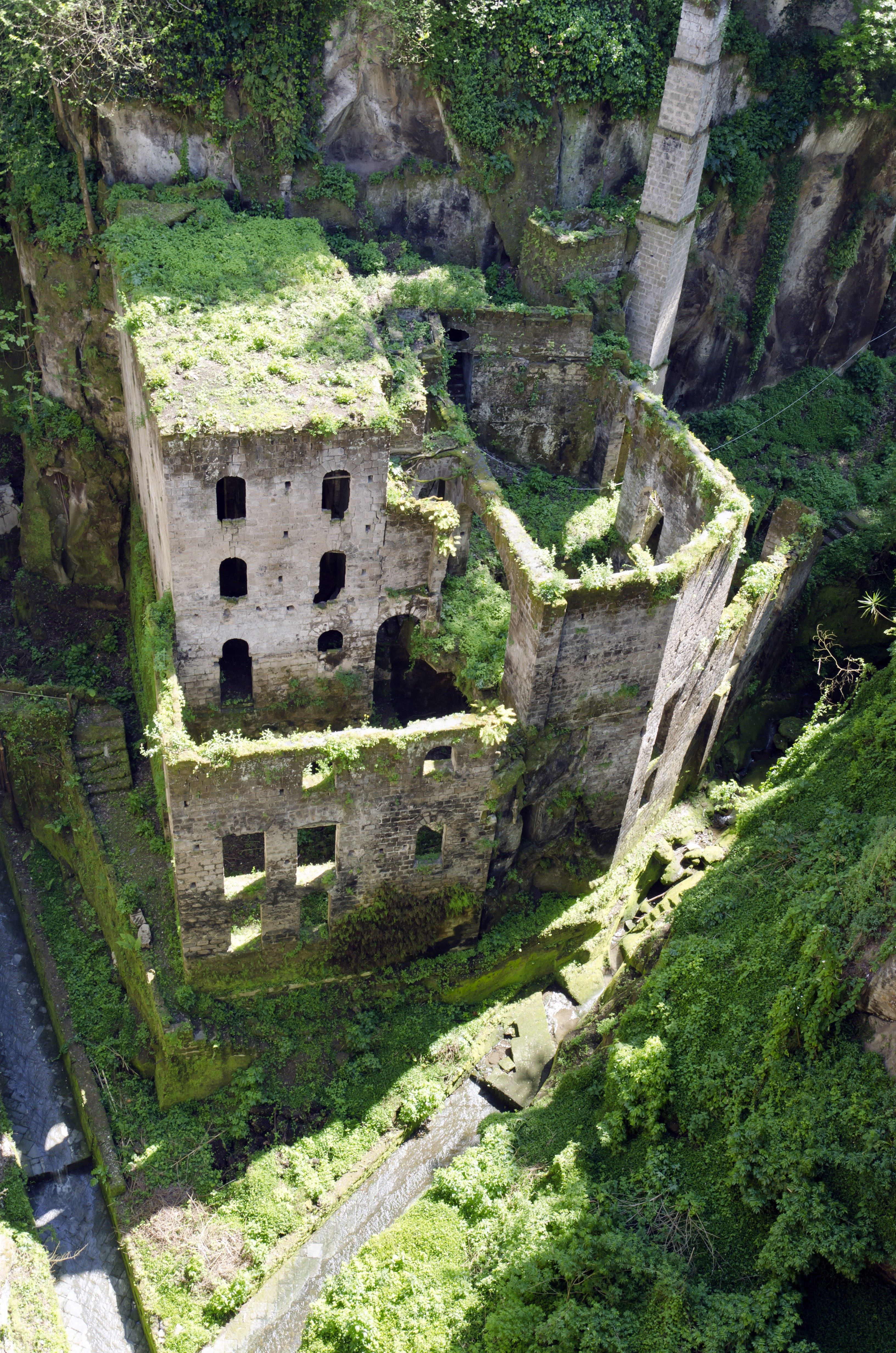 Sorrento ruins, Italy. IL Vallone dei Mulini...with it's own micro climate these mill ruins located in a deep gorge in Sorrento date to the early 900's.
