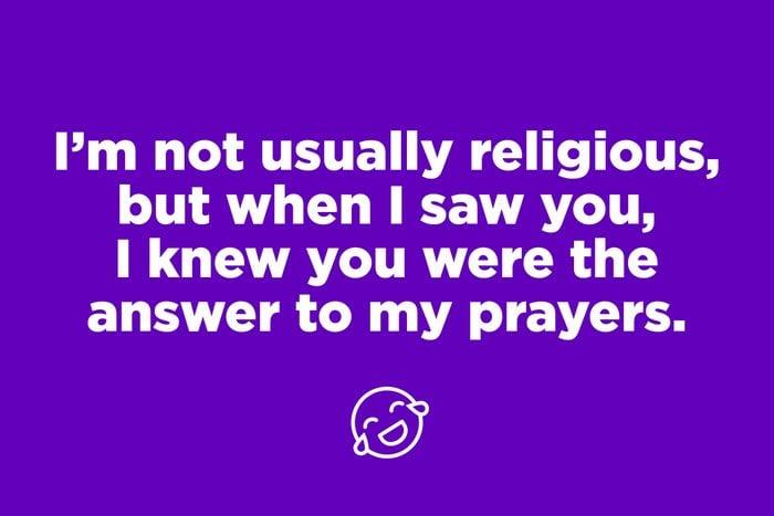 Prayer pickup line on purple