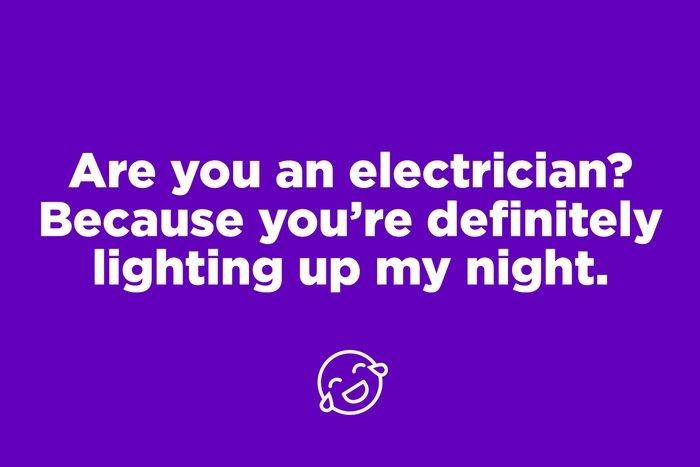 Electrician pickup line on purple