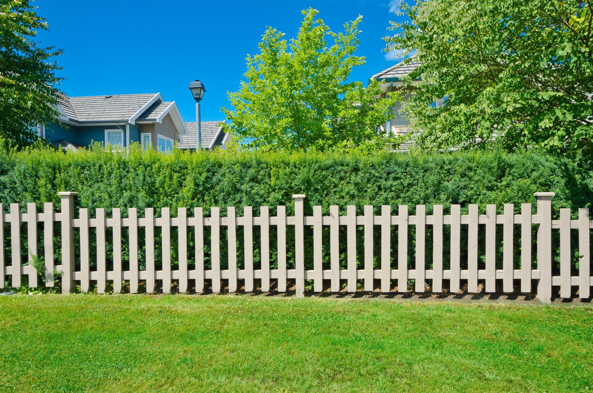 County style long wooden fence.