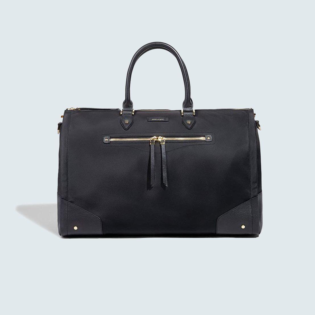 Hook & Albert Black Nylon Garment Weekender Bag