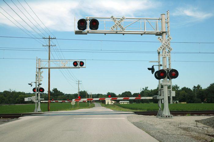 At Grade Railroad Crossing