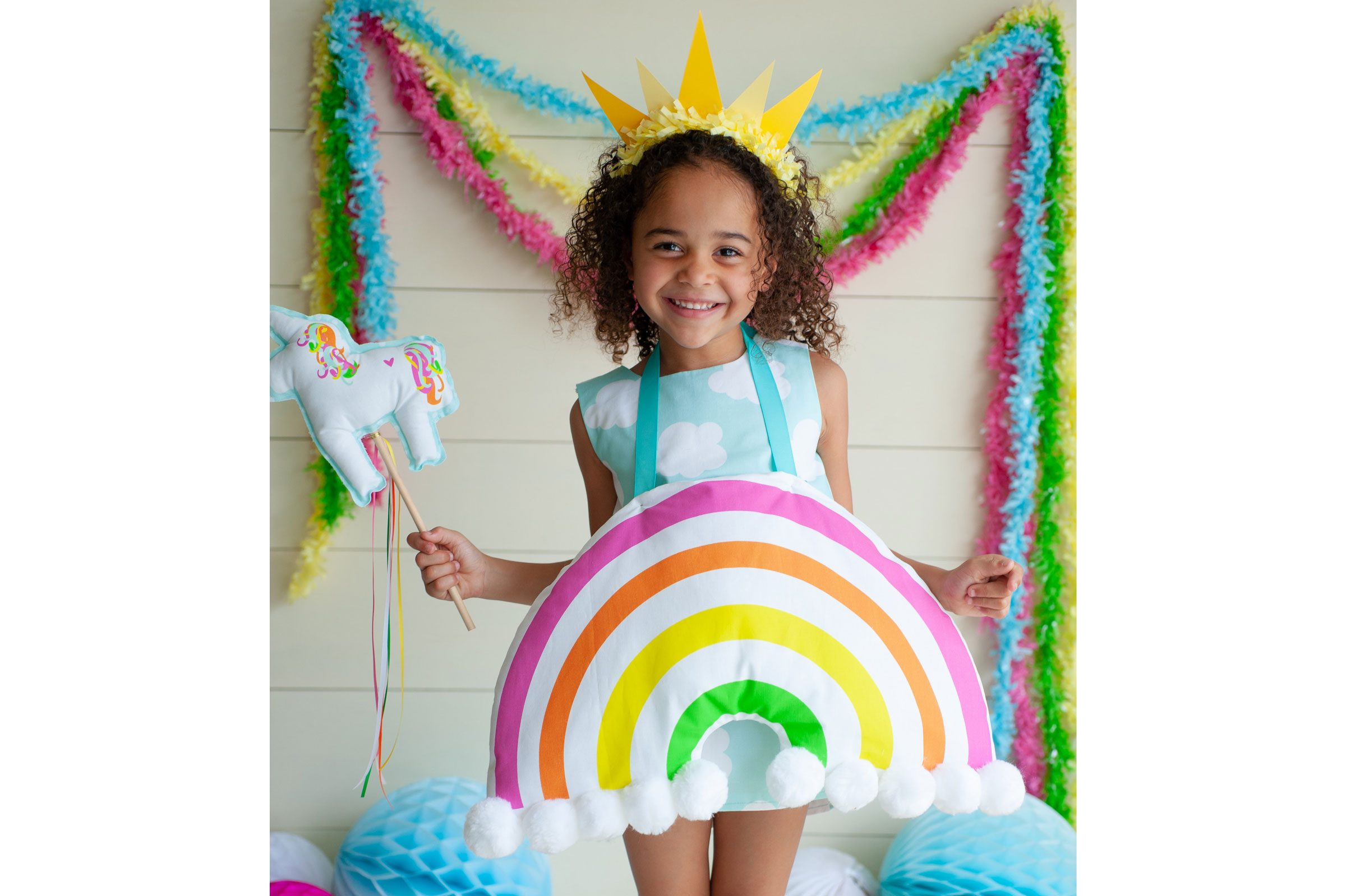 kids diy halloween costume - rainbow