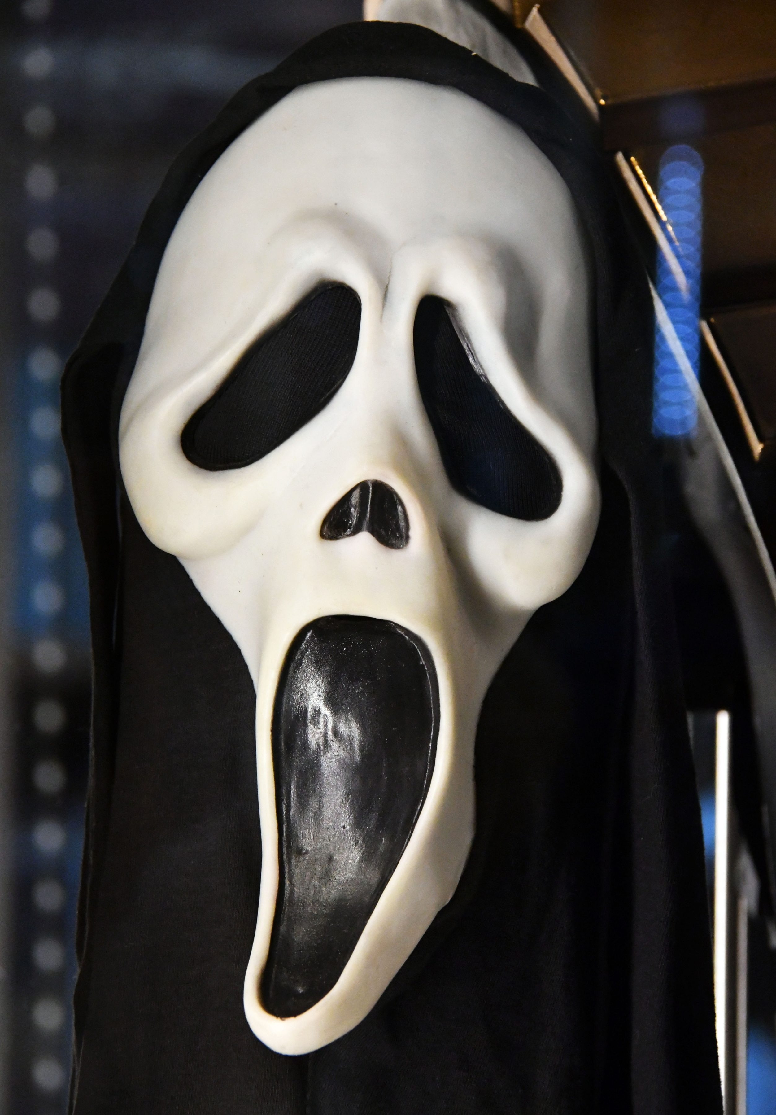 Mandatory Credit: Photo by Nils Jorgensen/Shutterstock (9870208ax) Ghostface Mask from Scream (1996). Estimate £6,000-8,000 Rare and iconic film memorabilia auction, London, UK - 06 Sep 2018 Rare and iconic blockbuster film and TV memorabilia with in excess of £3.5 million ($4.6 million) to be auctioned in UK. Auction presenting some of the most iconic cinematic artefacts of our time of rare blockbuster film memorabilia, including jacket worn by Harrison Ford in his role as Han Solo in the Star Wars film The Empire Strikes Back expected to fetch £1m, is among 600 lots to be auctioned by Prop Store at London's BFI Imax