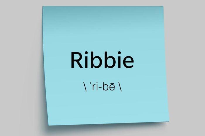 ribbie sticky note