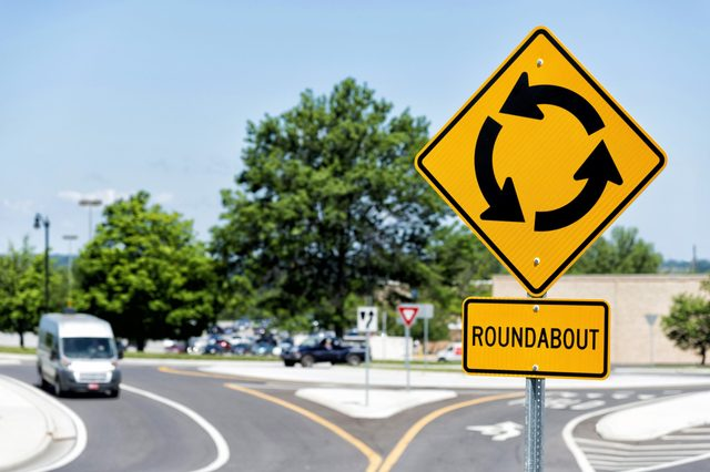 Sign For Roundabout Intersection Horizontal
