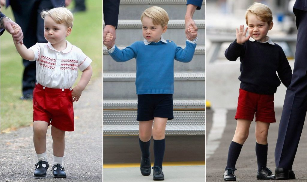 prince george dressed in shorts