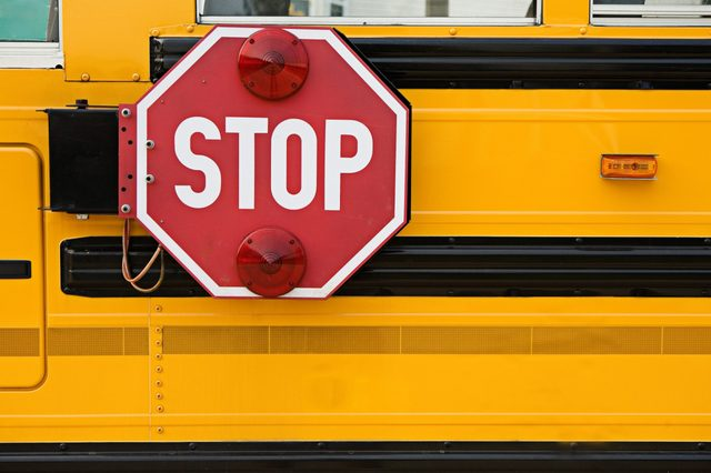 Education: Stop Sign On Side Of School Bus