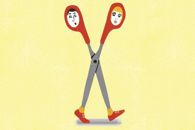 running scissors illustration by ellen weinstein