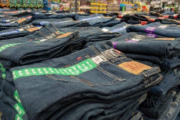 costco jeans display