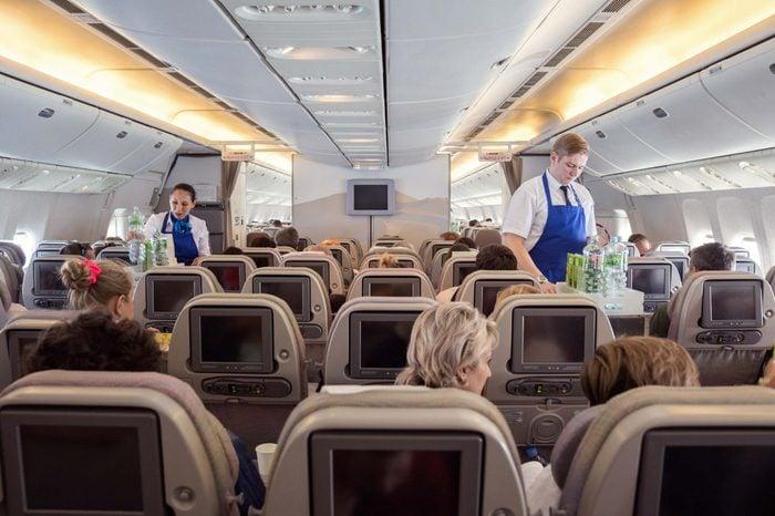 beverage carts on airplane