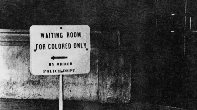 segregation sign waiting room for colored only