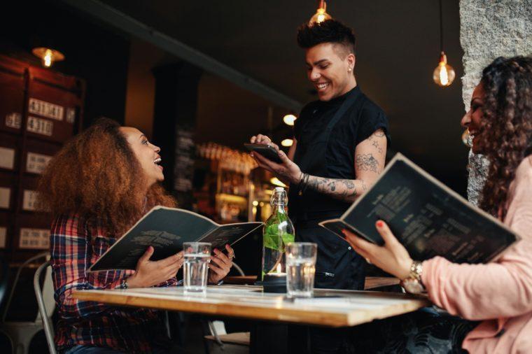 server at restaurant