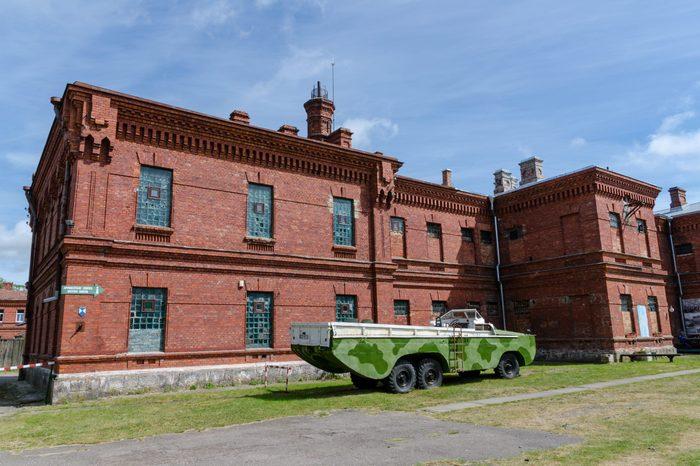 LIEPAJA, LATVIA - JUNE 16, 2015: Karosta prison.