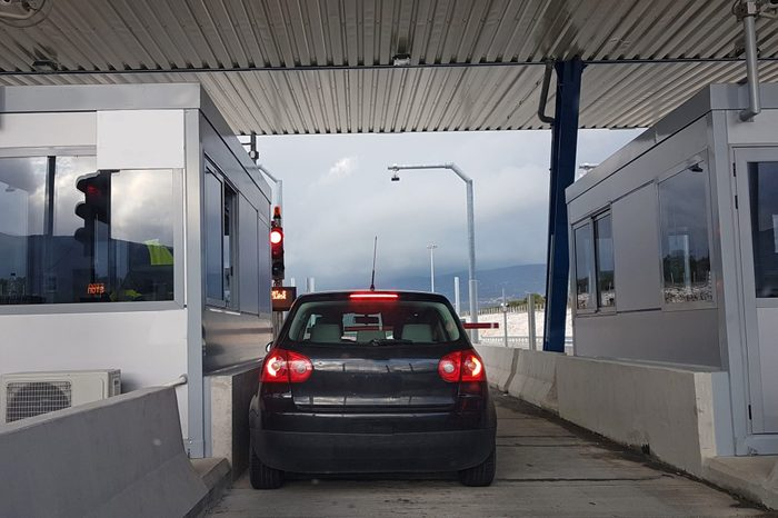 toll station in Ionia street Greece