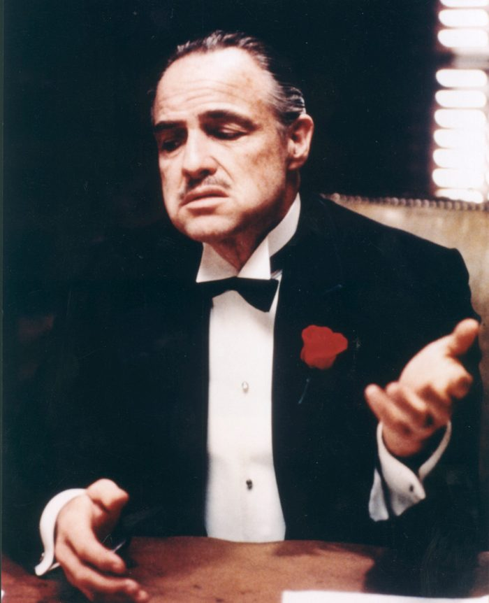 Editorial use only. No book cover usage. Mandatory Credit: Photo by Moviestore/Shutterstock (1647736a) The Godfather, Marlon Brando Film and Television