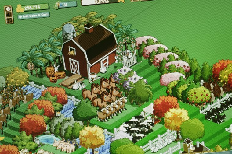 screenshot of farmville game