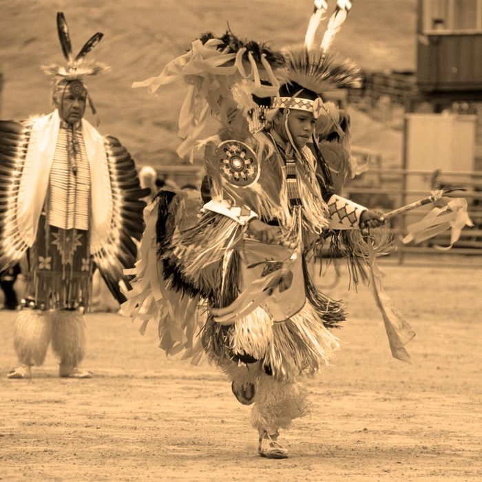 Navajo Pow Wow, (Pow Wow is a gathering of Native Americans), in Gallup. New Mexico, America. Mar 2007