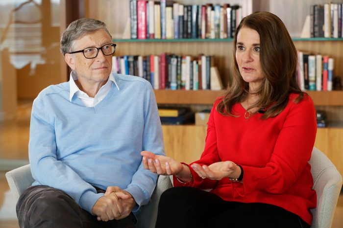 Bill Gates and Melinda Gates, 2018