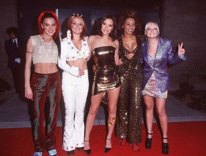 Mandatory Credit: Photo by Granitz/Mediapunch/Shutterstock (9443771a) 1997 Billboard Awards Mgm Hotel Las Vegas 12-8-97 Spice Girls Billboard Music Awards