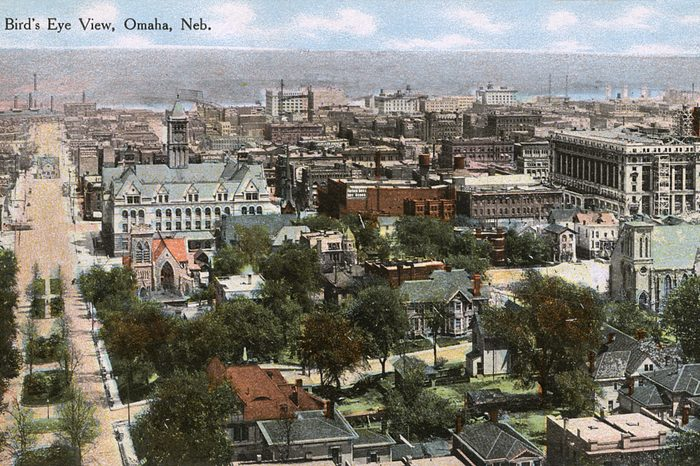 aerial view of omaha nebraska