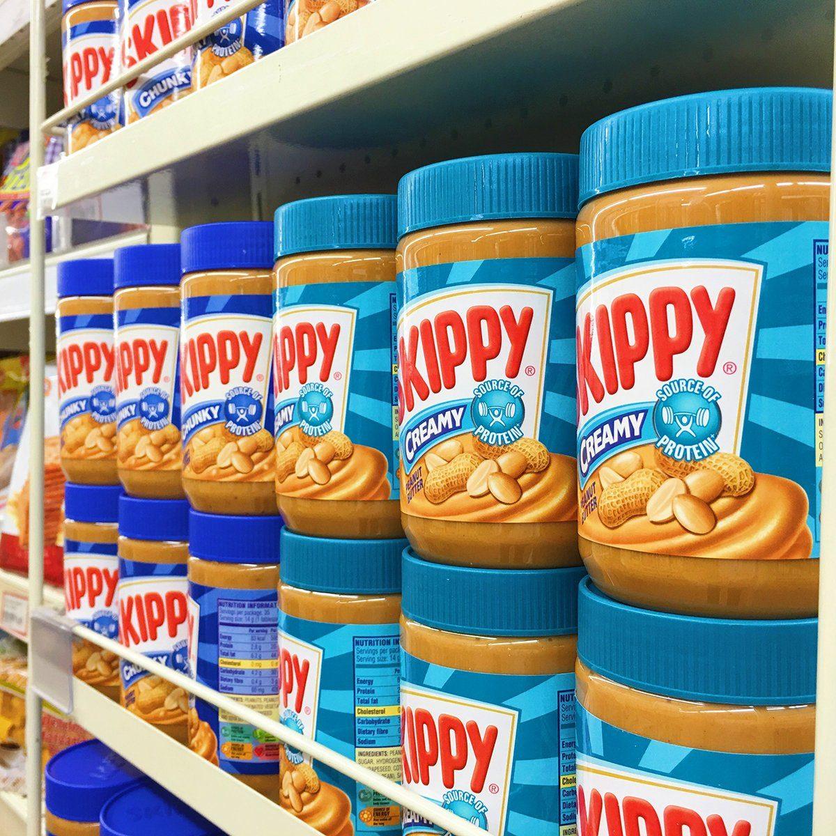 Skippy brand chunky peanut butter