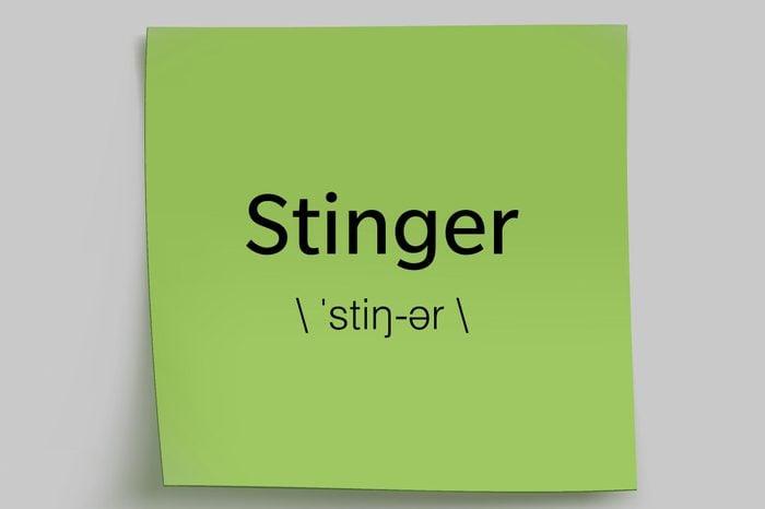 stinger sticky note